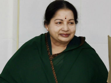 File image of former chief minister J Jayalalithaa. PTI