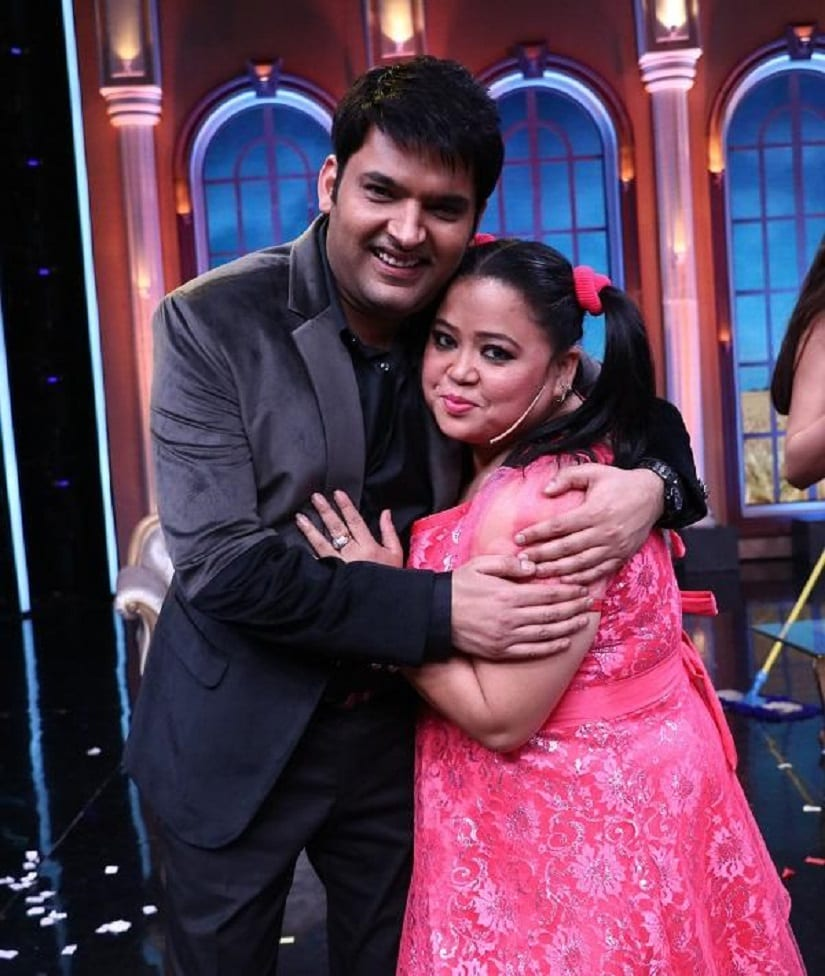 Kapil Sharma and Bharti Singh. Image from Twitter/@PinkvillaTelly.
