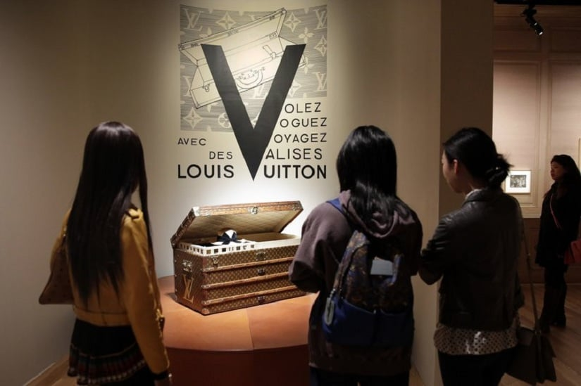 The Louis Vuitton exhibition. Image from AP.