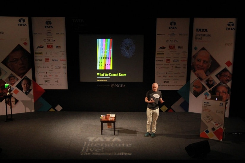 Marcus du Sautoy delivers his 'Straight Talk' at the Tata Literature Live! Mumbai LitFest
