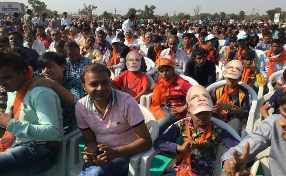 Prime Minister Narendra Modi reached Morbi on Wednesday to address four rallies in different parts of south Gujarat, where polling for the first phase of Assembly elections will be held on 9 December. Firstpost/Amitesh