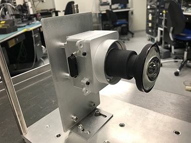One of the prototype lenses for the Hazcams. Image: NASA/JPL-Caltech