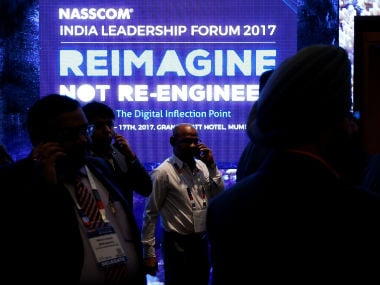 Delegates attend the National Association of Software and Services Companies (NASSCOM) India Leadership Forum in Mumbai, India February 16, 2017. REUTERS/Danish Siddiqui