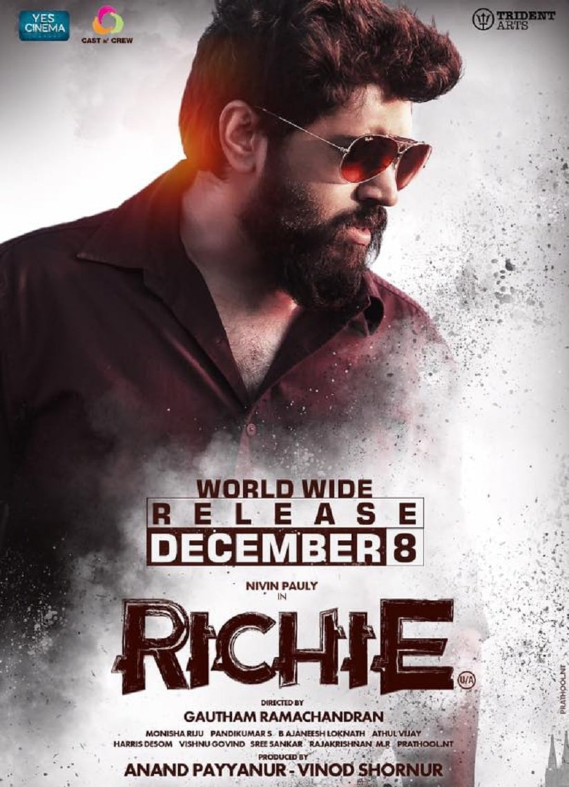 The poster for Nivin Pauly's Richie. Image from Facebook