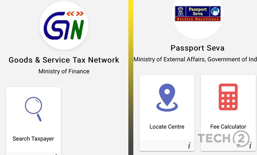 Users can access the GSTN and Passport services