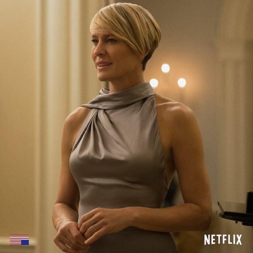Robin Wright on House of Cards. Image from Facebook/@HouseOfCards