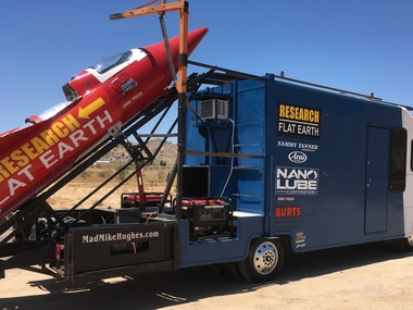 Self-taught rocket scientist 'Mad' Mike Hughes to launch over a ghost town in his custom built rocket