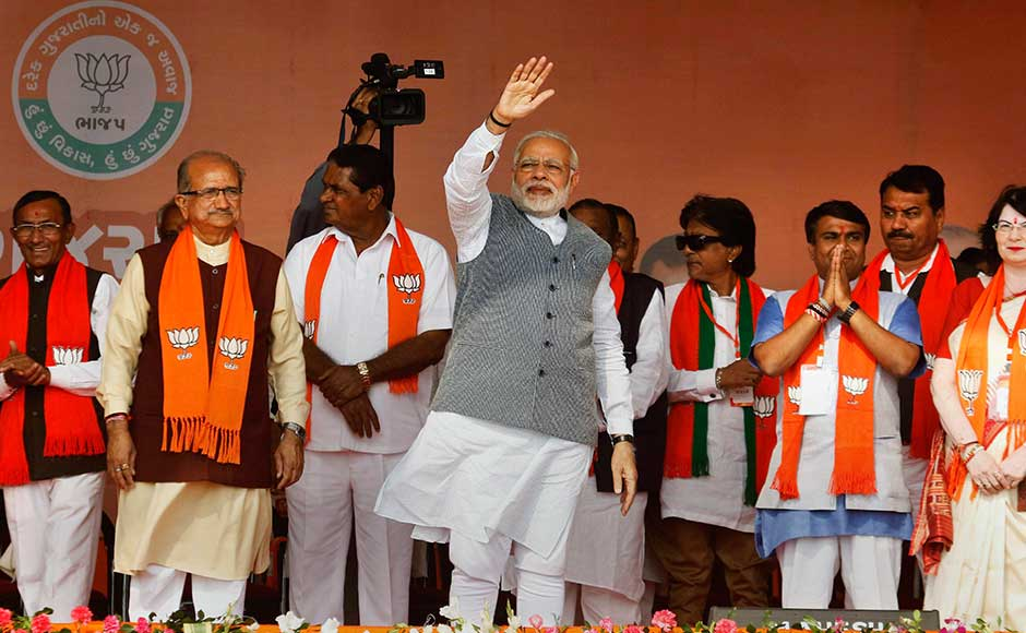 Narendra Modi in Gujarat: PM resumes campaign trail, holds rallies in Palanpur, Sanand, Kalol and Vadodara