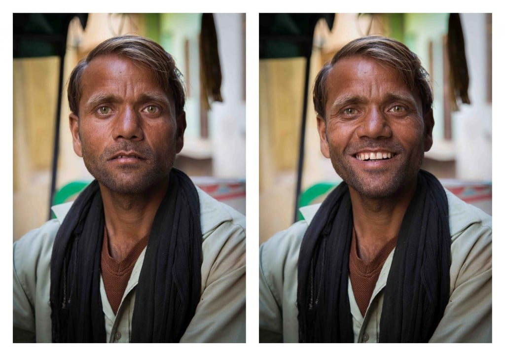 Jay Weinstein captures contrasting facial expressions in his photography series So I Asked Them To Smile