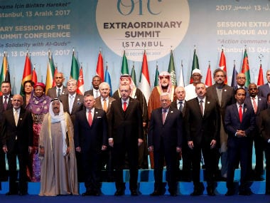 Group photo of leaders and representatives of the Organisation of Islamic Cooperation (OIC) member during an extraordinary meeting in Istanbul, Turkey. Reuters