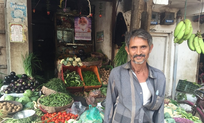 Kanabhai Bariya, a vegetable seller in Koliyak. Firstpost/Parth MN