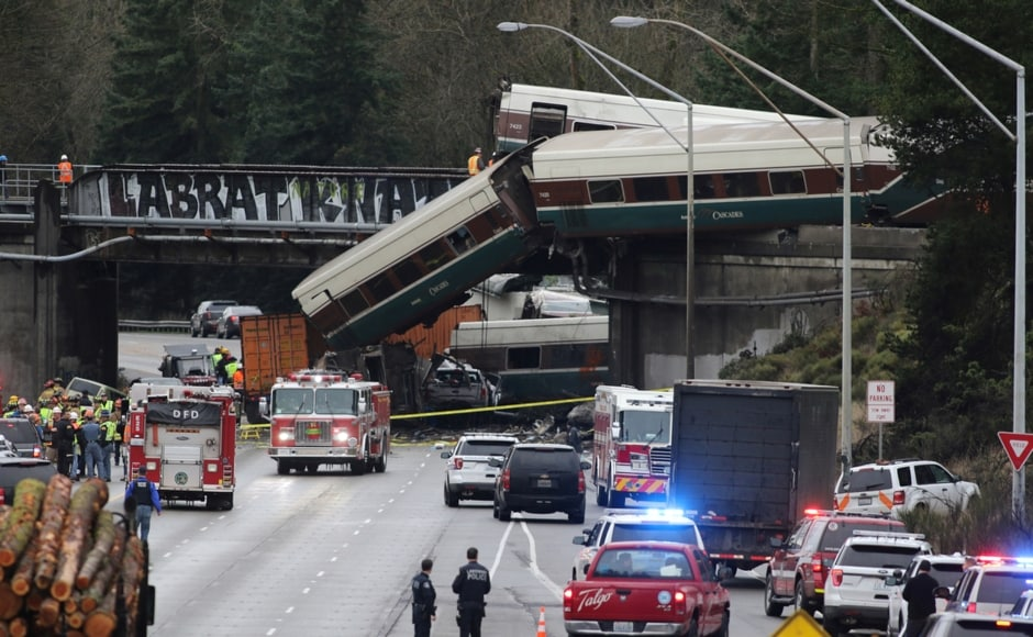 Amtrak accident: Six killed as train travelling at over 120 kmph derails onto Washington Highway