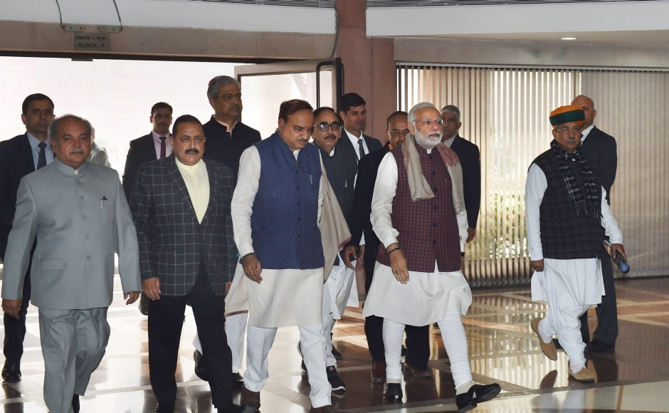 BJP parliamentary party meeting: Narendra Modi calls for strengthening BJP roots for 2019 polls