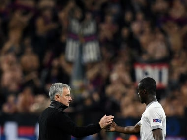 File image of Jose Mourinho and Eric Bailly. AFP