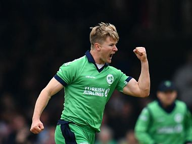 Ireland's Barry McCarthy picked up his maiden five-wicket haul to help Ireland defeat Afghanistan, level series 1-1. Image courtesy: ICC website