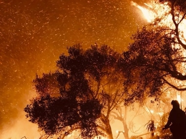 File image of the fire ravaging California. AP