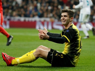 Christian Pulisic broke into the Borussia Dortmund first side in the 2016-17 season. Reuters