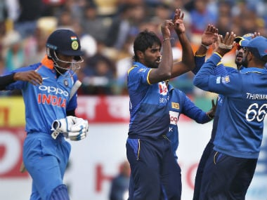 India vs Sri Lanka: Hosts suffer in seamer-friendly conditions as Islanders win first ODI by seven wickets