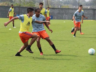 FC Pune City players during a training session. Image Courtesy: Twitter @FCPuneCity