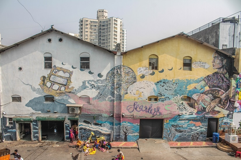 Mural by Fearless Collective. Photo courtesy Pranav Gohil