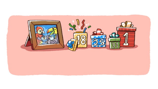 The third image of the comic strip revealing the dates for more comics based on the holidays. Image: Google