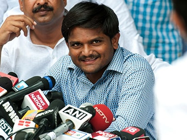 File image of PAAS leader Hardik Patel. PTI