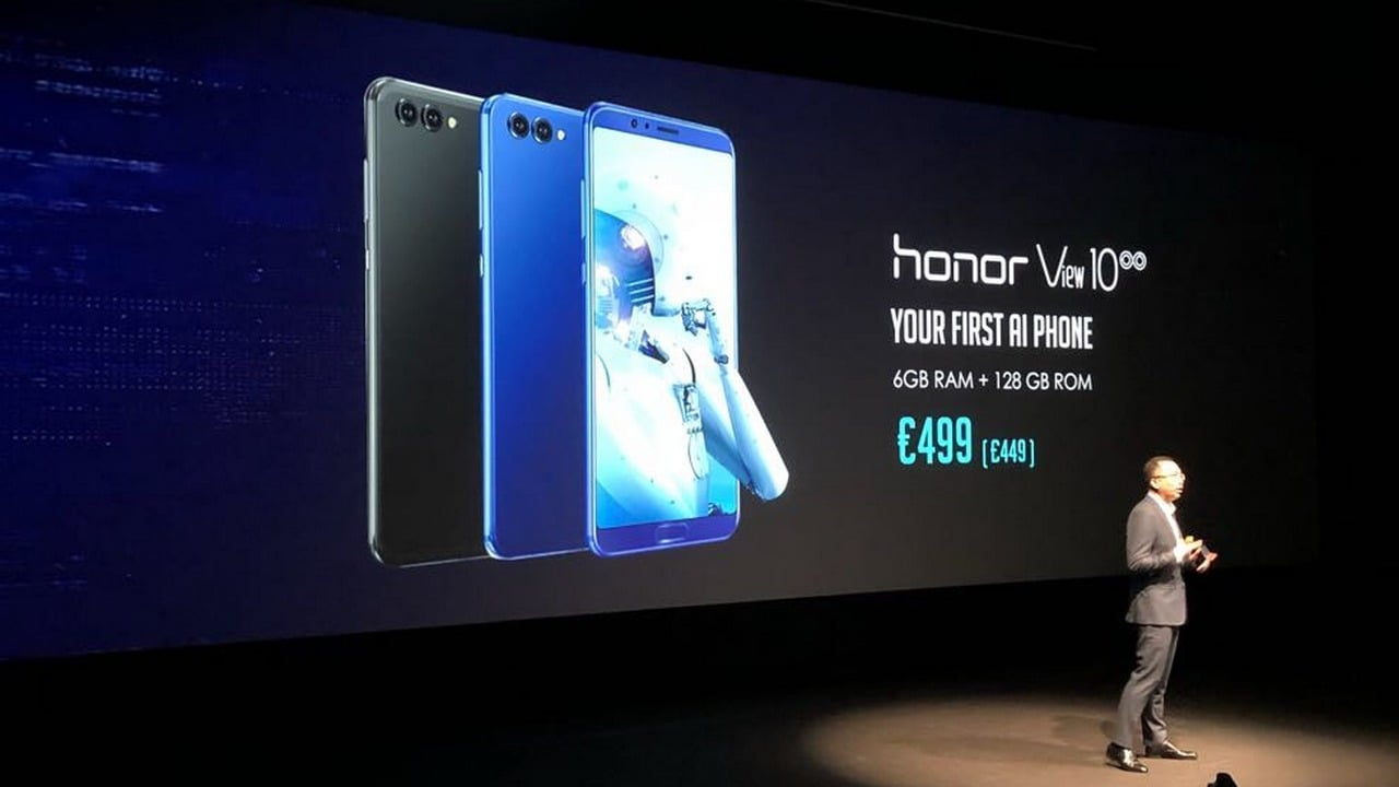 The Huawei Honor View 10 or Honor V10