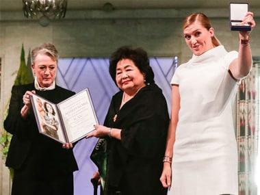 Nobel Peace Prize winners ICAN warn mankind's destruction through nuclear war just one 'impulsive tantrum away'