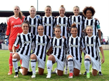 File image of the Juventus women's football team. Image courtesy: Official Facebook page of Juventus FC