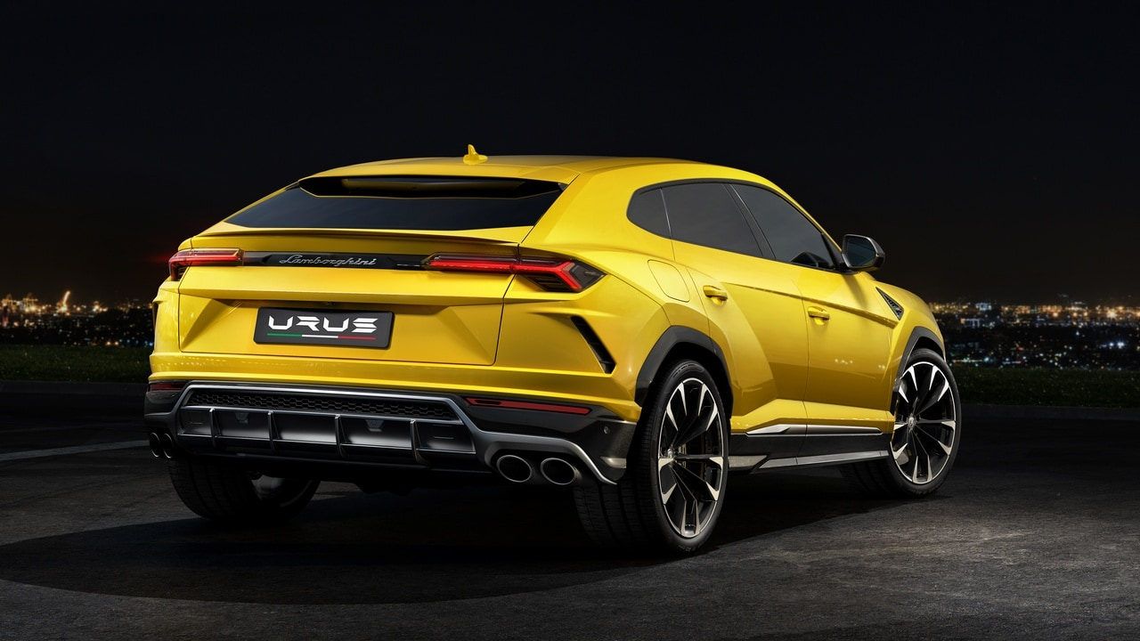 The back of the Lamborghini Urus. Image: Lamborghini