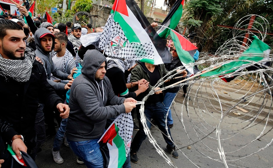 Donald Trump's Jerusalem announcement Security forces use tear gas during protest near US embassy in Lebanon
