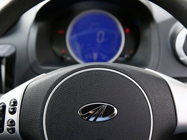 The steering wheel of a Mahindra e2o electric car. Image: Reuters