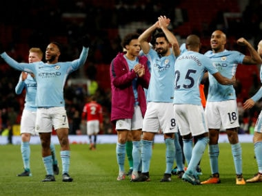 Manchester City are top of the Premier League charts. Reuters