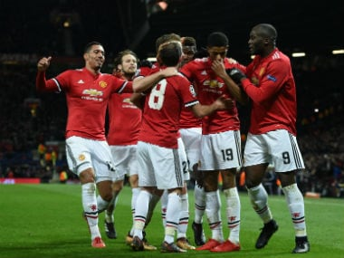 File image of Manchester United players. AFP