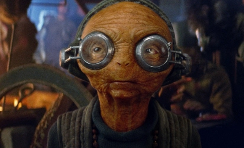 Maz Kanata, a humanoid alien introduced in the The Force Awakens