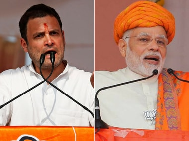 File image of Congress president-elect Rahul Gandhi and Prime Minister Narendra Modi. Reuters and AP