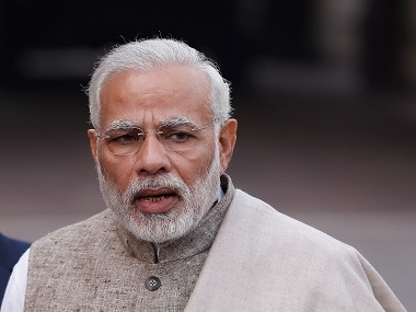 Narendra Modi arrives in Gwalior for two-day conference of police top brass in Tekanpur