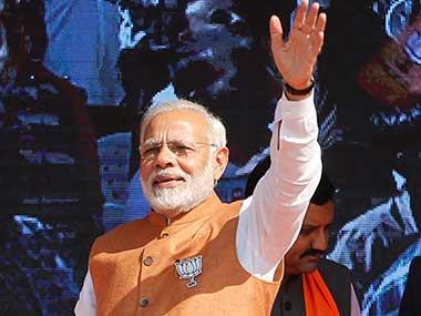 File image of Narendra Modi on the campaign trail. AP