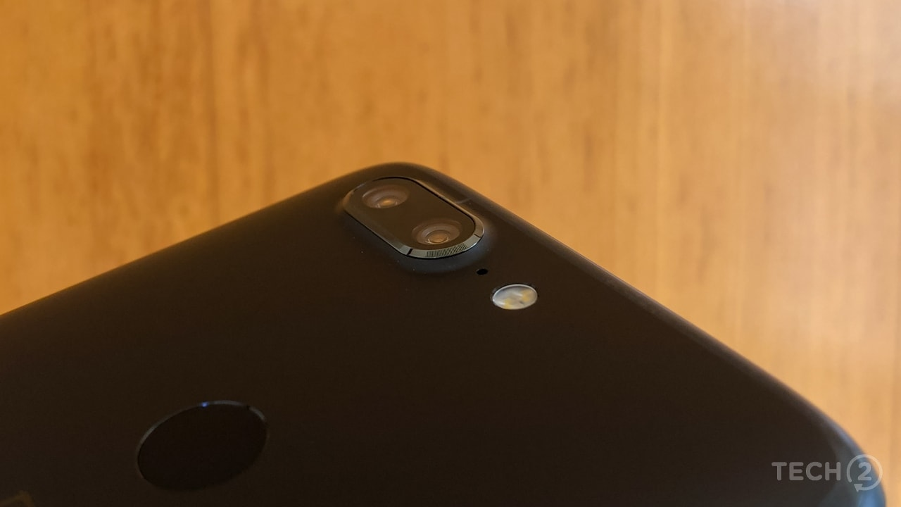 The camera setup is different from the OnePlus 5.