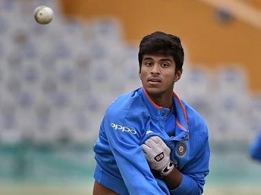India's Washington Sundar during a practice session on the eve of the second ODI cricket match against Sri Lanka, in Mohali on Tuesday. PTI Photo by Manvender Vashist (PTI12_12_2017_000165B)