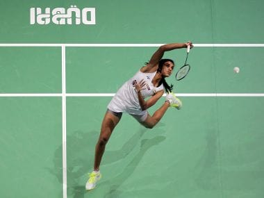 India's Pusarla V. Sindhu returns a shot to China's Chen Yufei during their semi-final match during the Dubai Badminton World Superseries Finals in Dubai. AFP