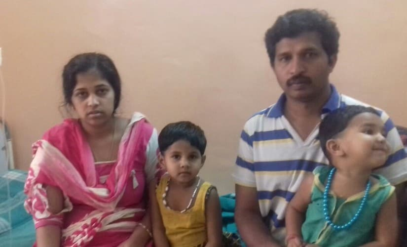 The daily wage labourer Mariyappan and his family were thrown out of their home on 4 December.