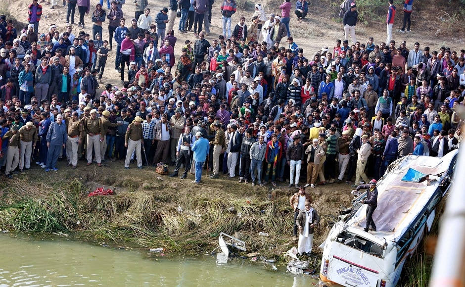 Rajasthan: 32 feared dead as bus falls into river
