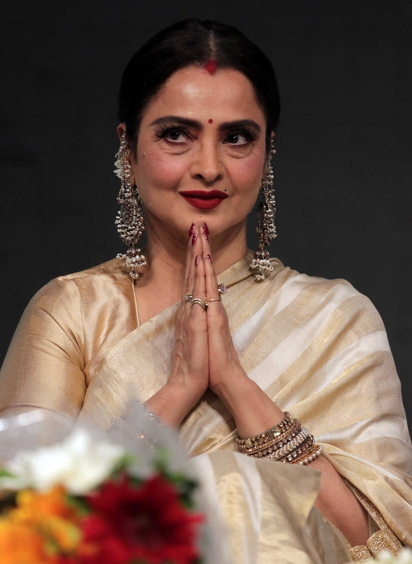 Rekha during the award ceremony. Image by Firstpost/Sachin Gokhale.