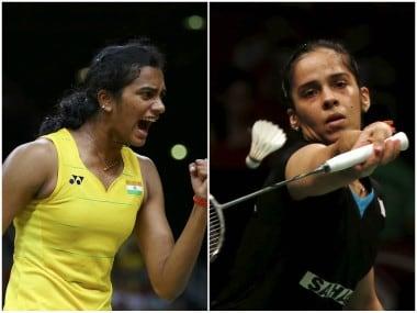 File images of PV Sindhu and Saina Nehwal. Reuters