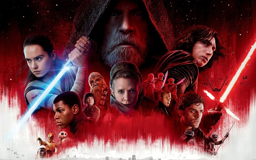 Poster for the upcoming Star Wars: The Last Jedi. Star Wars