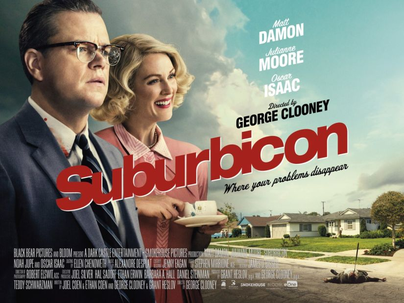 Official poster of Suburbicon. Paramount Pictures