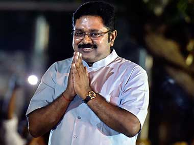 A file image of newly-elected MLA from RK Nagar TTV Dhinakaran. PTI