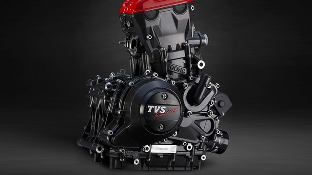 The Engine on the TVS Apache RR 310. Image: TVS Apache
