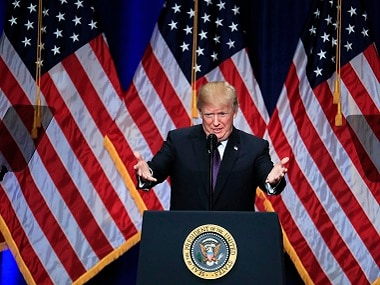 India. President Donald Trump speaks and lays out a national security strategy that envisions nations in perpetual competition, reverses Obama-era warnings on climate change, and de-emphasizes multinational agreements, in Washington, Monday, Dec. 18, 2017. (AP Photo/Manuel Balce Ceneta)